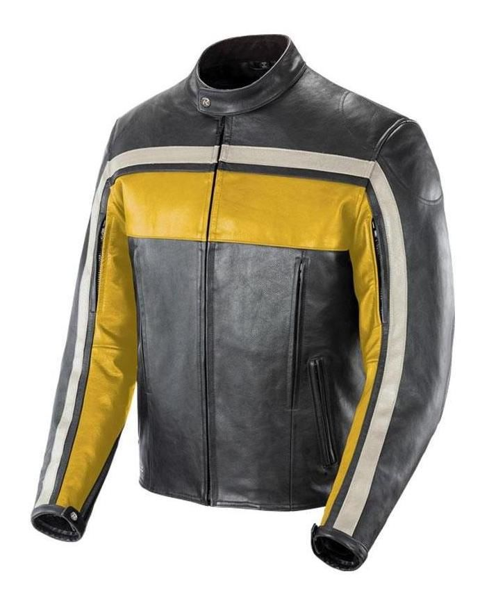 Black And Yellow Riding Jacket